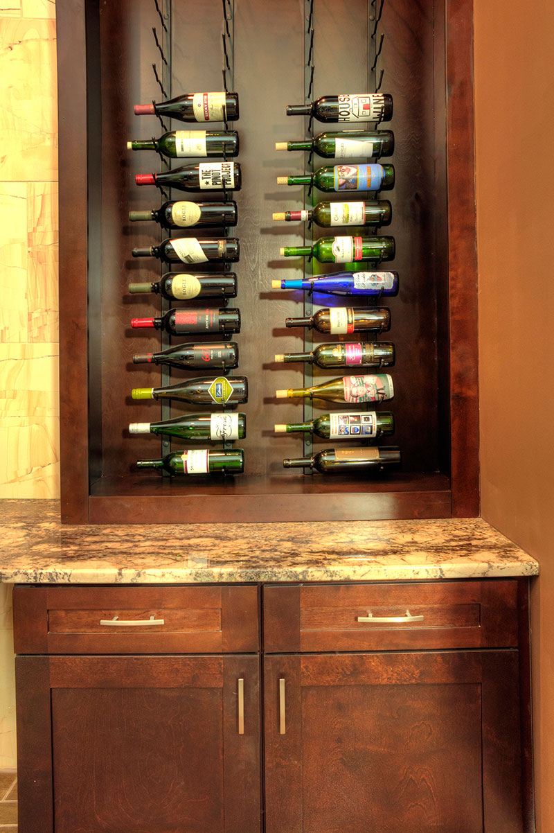 awesome Kc Granite And Cabinetry Part - 11: cabinets-wine-rack